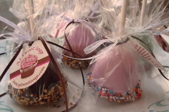 Cake Pop Soap - OUR ORIGINAL - Sweet and Sassy Cake Pop Soap Party Favor Set of 12