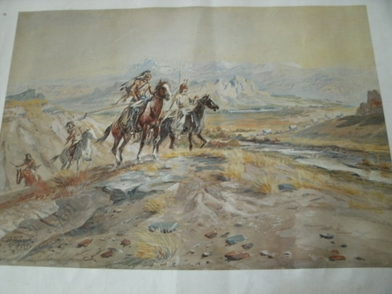 CM Russell Western Artwork Prints 4 Vintage Union 76