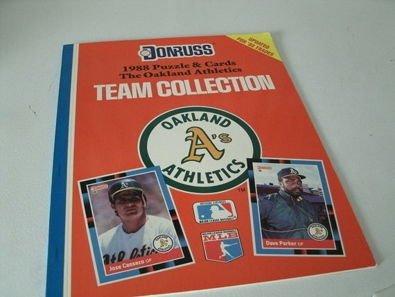 Jose Canseco Oakland A's Baseball Card Book Uncut
