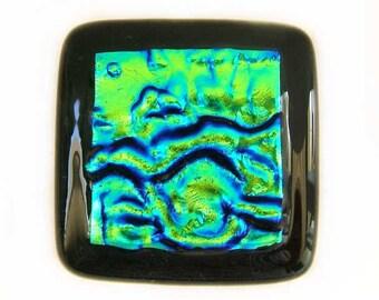 Green Blue Glass Cabinet Knobs l Custom Hardware