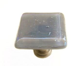 Gray Iridescent Glass Cabinet Knobs Hardware