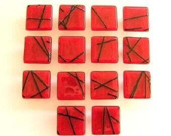 Red Kitchen Backsplash Tile, Glass Floor Tile, Wall Tile, Pool Tile