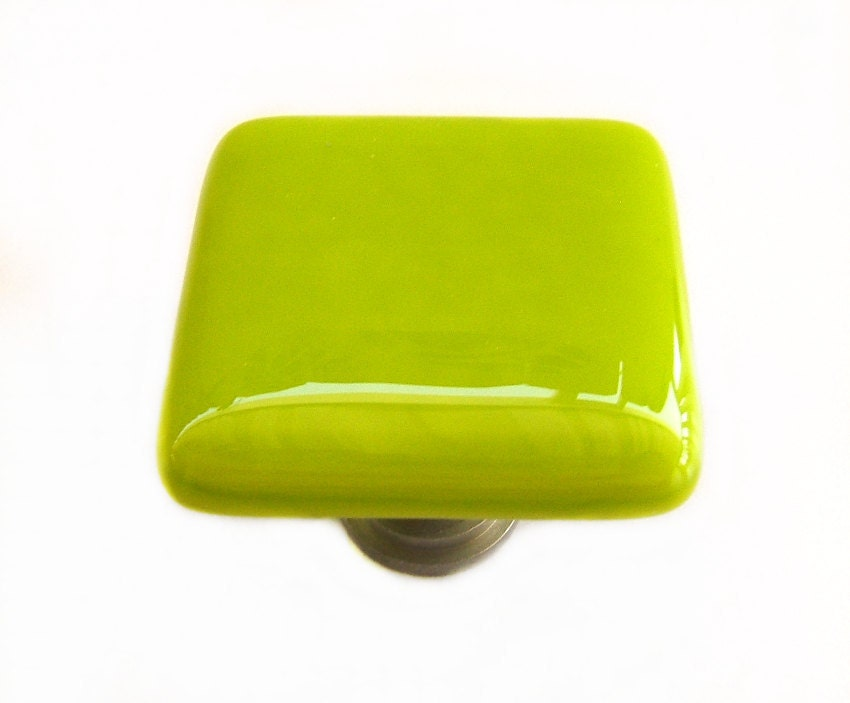 Green Glass Cabinet Knobs And Drawer Pulls: Lime Green Glass Cabinet Knob L Kitchen Bathroom Hardware