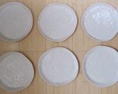 six woodgrain plates