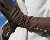 Brown Sugar - altered vintage gloves