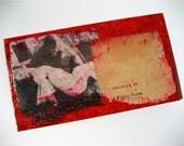 Willing Victim -original handmade card and envelope