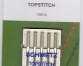 Schmetz Topstitch sewing machine needles , 5 pack, size 80/12