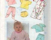 Vintage Simplicity 8968 sewing pattern Baby wardrobe UNCUT  Top, Panties, Pants, Saque