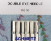 Schmetz Double Eye sewing machine needles, 5 pack