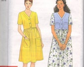 Simplicity 7535 sewing pattern , misses dress, combination size extra small to extra Large, uncut