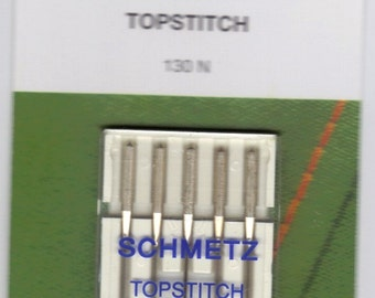 Schmetz Topstitch sewing machine needles , 5 pack, size 80/12