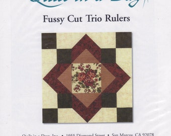 Fussy Cut Trio Rulers, Quilt in a Day, for quilt blocks, applique