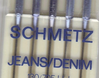 Schmetz Jeans, denim sewing machine needles, size 90, 14, pack of 5