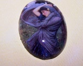 40x30 Waterhouse  Boreas Cameo. 30x40mm Waterhouse Cabochon, Handmade Glass Cabochon, John Waterhouse Fine Art