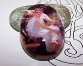 40x30mm Work Interrupted - Handmade Glass Cabochon - William Adolphe Bouguereau Fine  Art