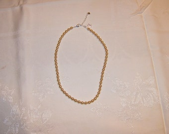 GOLD PEARL and SILVER Necklace