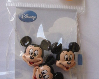 Disney Mickey Mouse Sew-On Buttons, Pack of 3