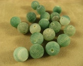 RESERVED Fire Agate Spring Green Beads