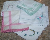 Reserved for Karine - Bag o' Bits and Pieces - Mixed Hankies 103 - 112 - 121
