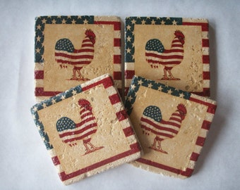 Rooster Coasters