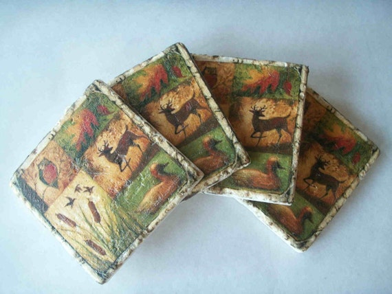 Rustic Drink Coasters Father's Day Gift