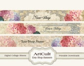 ETSY SHOP BANNERS Set No16 - Multipurpose digital images/ Printable Download/ Digital Collage Sheets/ Bookmarks/ Paper Goods