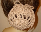 Set of 3 Large Hand Crochet Bun Cover Snoods/Great for Long or short hair buns/Women's Accessories/Hair Accessories/Fashion Accessories