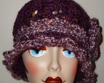Gorgeous Edwardian Style Hand Crochet Half Shell Stitch Cloche Flapper Hat/Cloche Hat/Vintage Style/Women's accessories/Winter Fashion/Fall