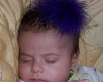 Little Feather Poof, Purple