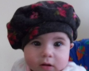 Baby Beret, Red Flower