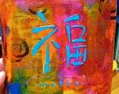 Happy - original acrylic painting