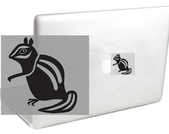 Chipmunk Snacking On Apple MacBook Decal by Suzie Automatic