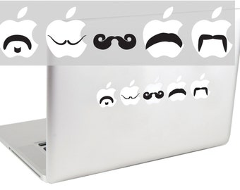 Mustache Set 2 MacBook Decal by SuzieAutomatic