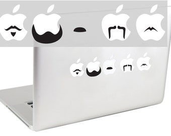 Mustache Set 1 laptop decal by Suzie Automatic
