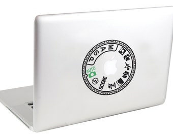 Nikon Mode Dial MacBook Decal by Suzie Automatic