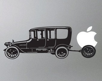Antique Car Macbook Vinyl Decal