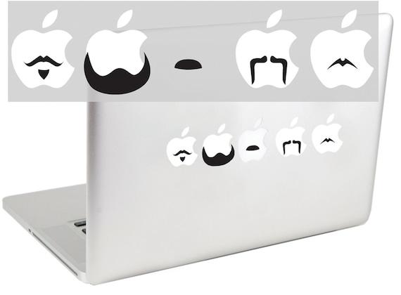 Mustache Set 1 laptop decal by Suzie Automatic