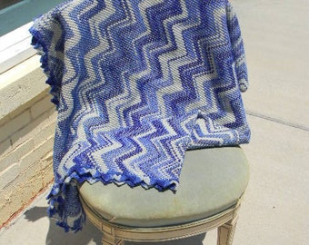 Shades of Blue Hand Knitted