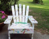 Childs Hand Painted Adirondack Chair with Color Splashes