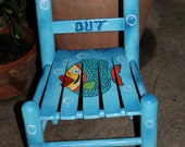 Hand Painted Time Out Chair