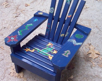 Hand Painted Adirondack Chair, Frog