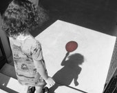The Red Balloon. Matted fine art photograph