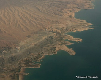Lake Mead. Matted aerial print