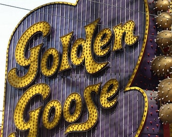 Golden Goose sign. Matted fine art photograph