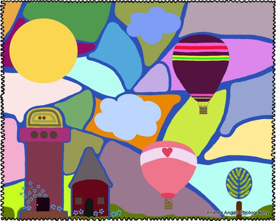 Sunday Morning in Happy Town. Matted Digital illustration