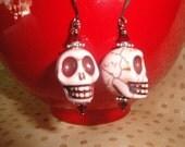 Pink Skull Earrings - Day of the Dead