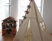 Tipi - Plain indoor play teepee tent, children teepee, small teepee, toddler teepee tent, plain canvas teepee, cotton play tent, indoor tent
