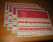 Easy Living Placemats in Yellow Red and Green