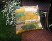 Batik Decorative Pillow - Lemon Grass