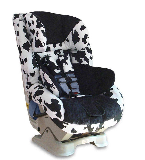 custom britax boulevard car seat cover cow print